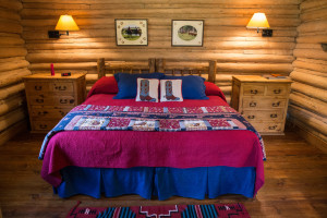 Bed in Dining Cabin | Wyoming Guest Ranches | CM Ranch