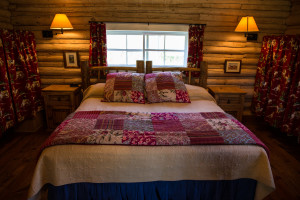 Queen Bedroom in Hill Cabin 4 | Cabins in Dubois Wyoming | CM Ranch