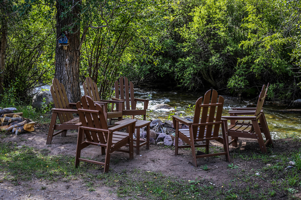 Baker House Patio Seating | Wyoming Guest Ranch | CM Ranch