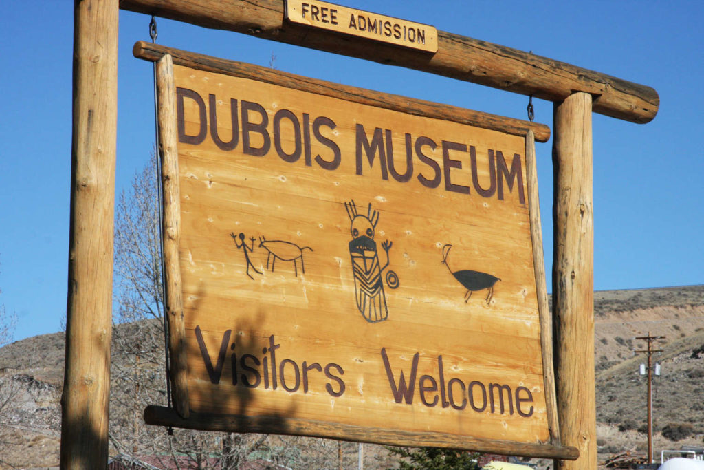 Dubois Museum Visitors Welcome SIgn