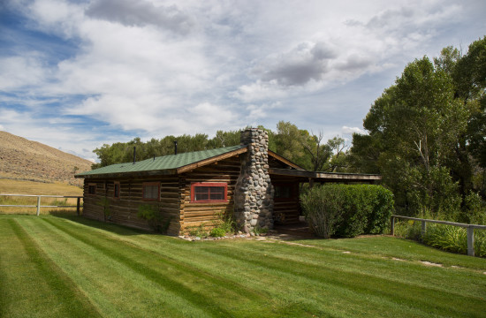 Exterior of the Garden Cabin | Wyoming ranch vacation | CM Ranch