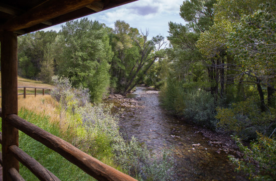 Overlook of Jakey's Fork in the Garden Cabin | Wyoming ranch vacation | CM Ranch