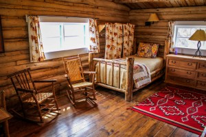 In the Twin Bedroom in Hill Cabin 3 | Wyoming Dude Ranches for Families | CM Ranch