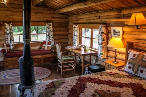 Studio Cabin writing desk | Horseback riding vacation packages at CM Ranch