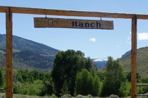 The gate at CM Ranch in Dubois, WY | Jackson Hole Wyoming horseback riding