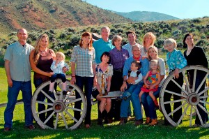 The Kemmerer Family poses for a family photo at CM Ranch in Dubois, WY | Jackson Hole Wyoming horseback riding